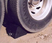 Chock your truck and trailer wheels