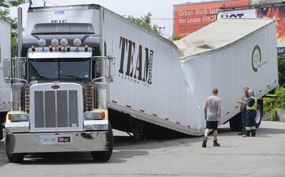 Beer Truck Breaks in Half - it's Summer time in Canada!!!