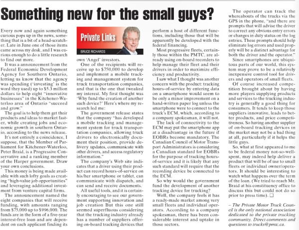 Bruce Richards PMTC article about BigRoad