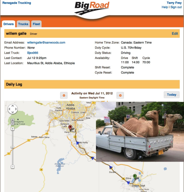 GPS Tracking Camels in Ethiopia with BigRoad