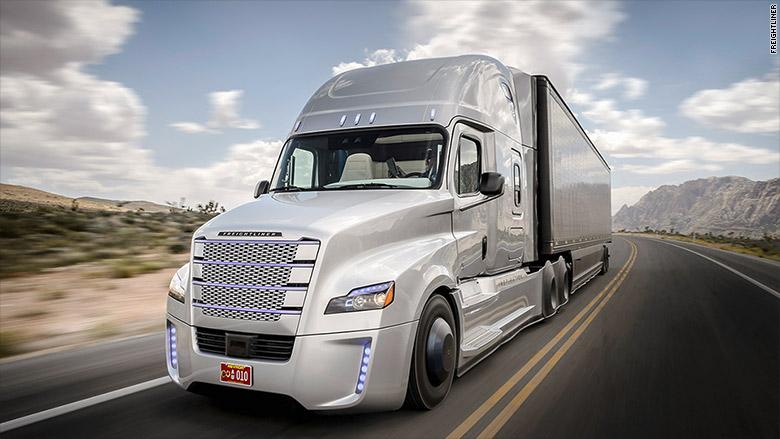 Autonomous trucks on the road