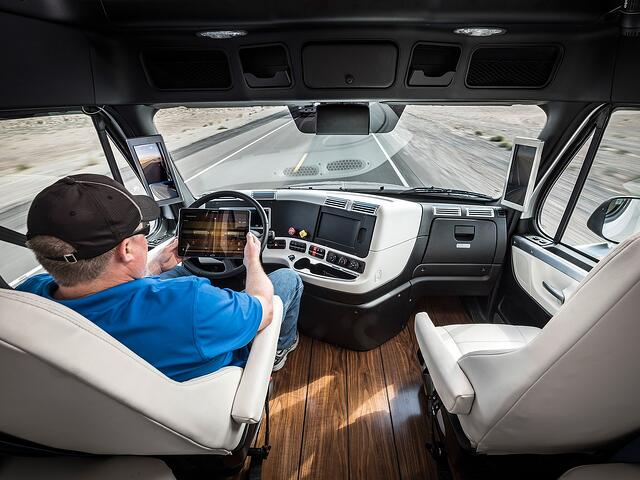 Drivers can be productive in the cab of an autonomous vehicle