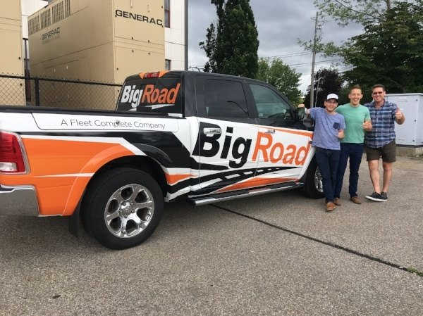 The BigRoad Team with the BigRoad Truck