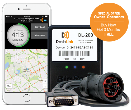 BigRoad Mobile App and DashLink ELD