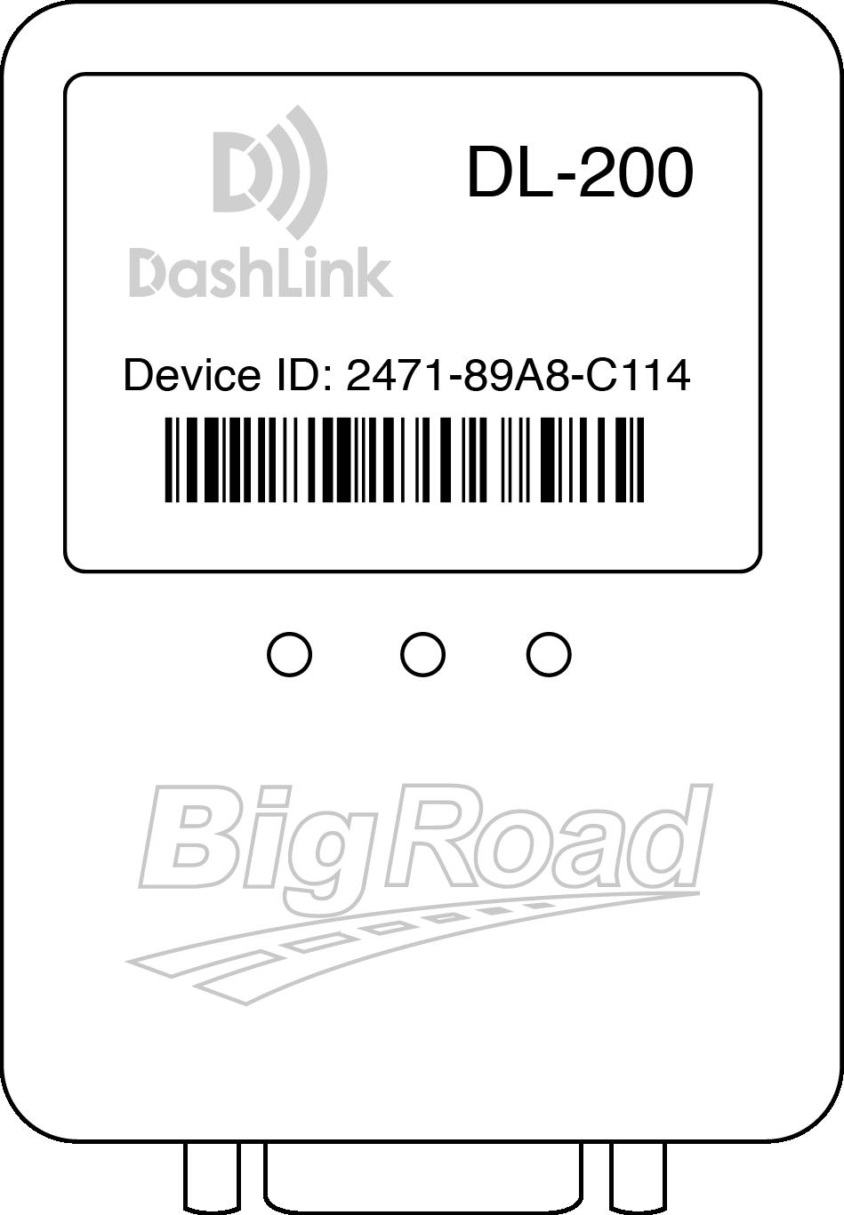 DashLink electronic logging device line drawing