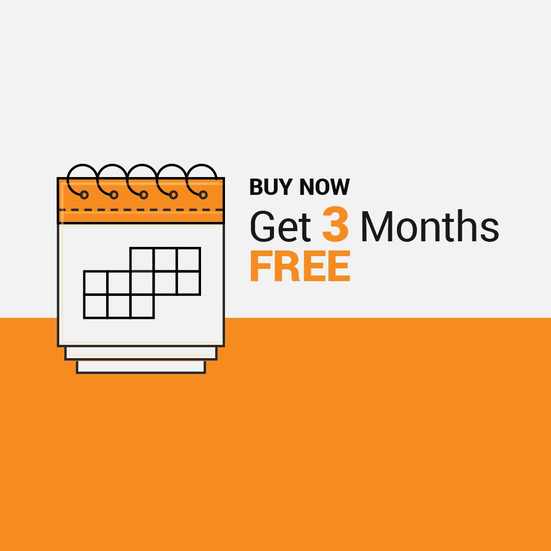 Get 3 Months Free Bonus Incentive