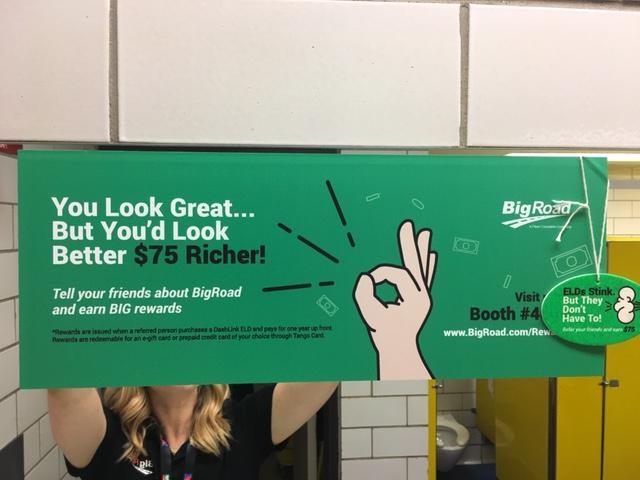 BigRoad Referral Program Mirror Ad