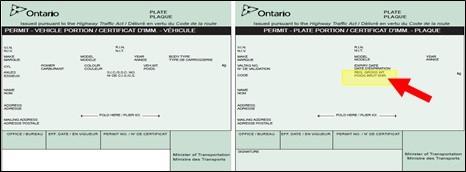 Ontario CMV license.