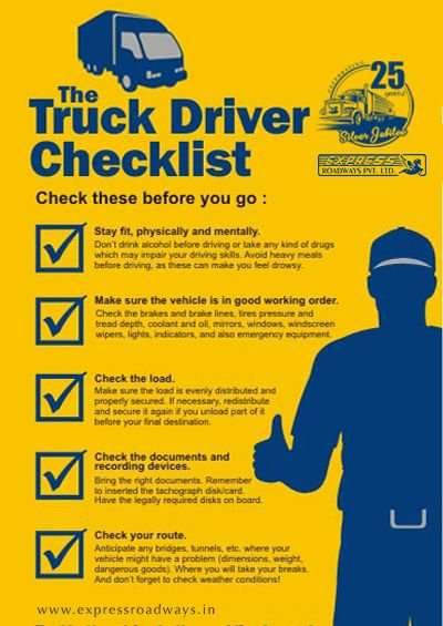 The truck driver checlist.