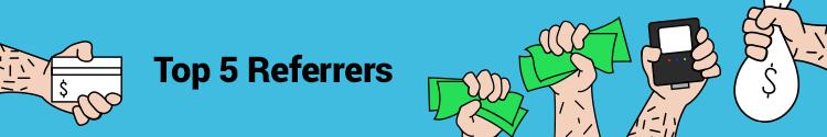 BigRoad Referral Program Top 5 Referrers