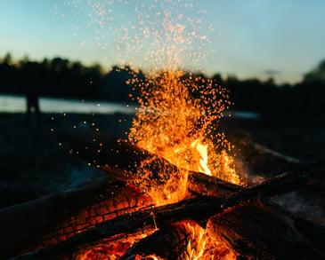 Paper Log Bonfire