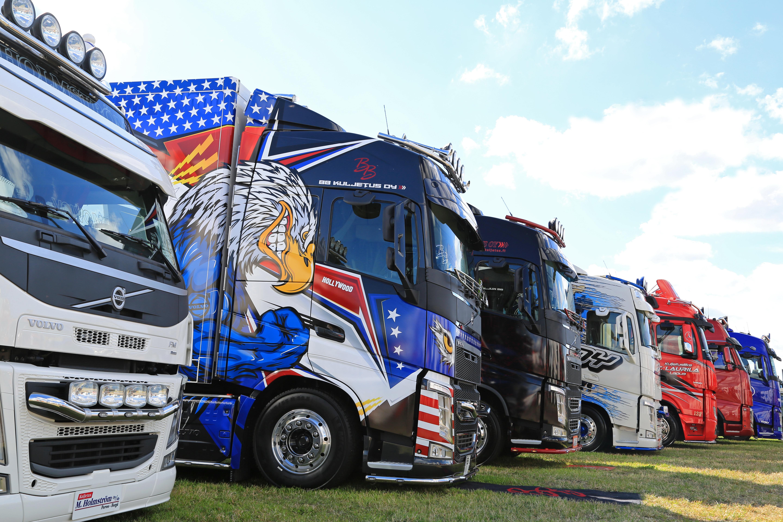 Truck Murals on Display for Spectators