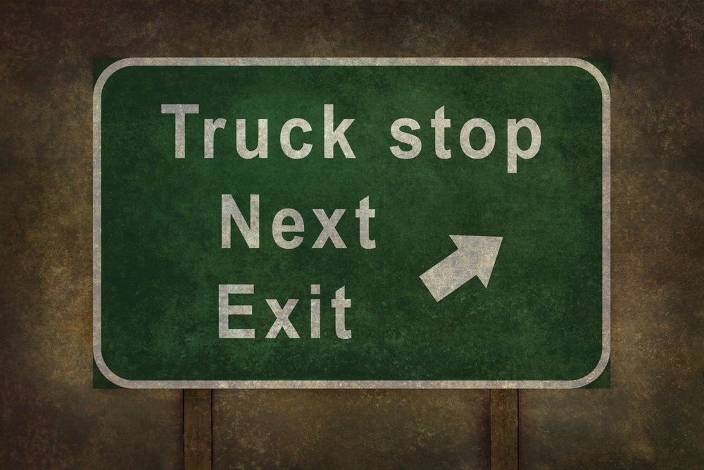 Truck Stop Sign