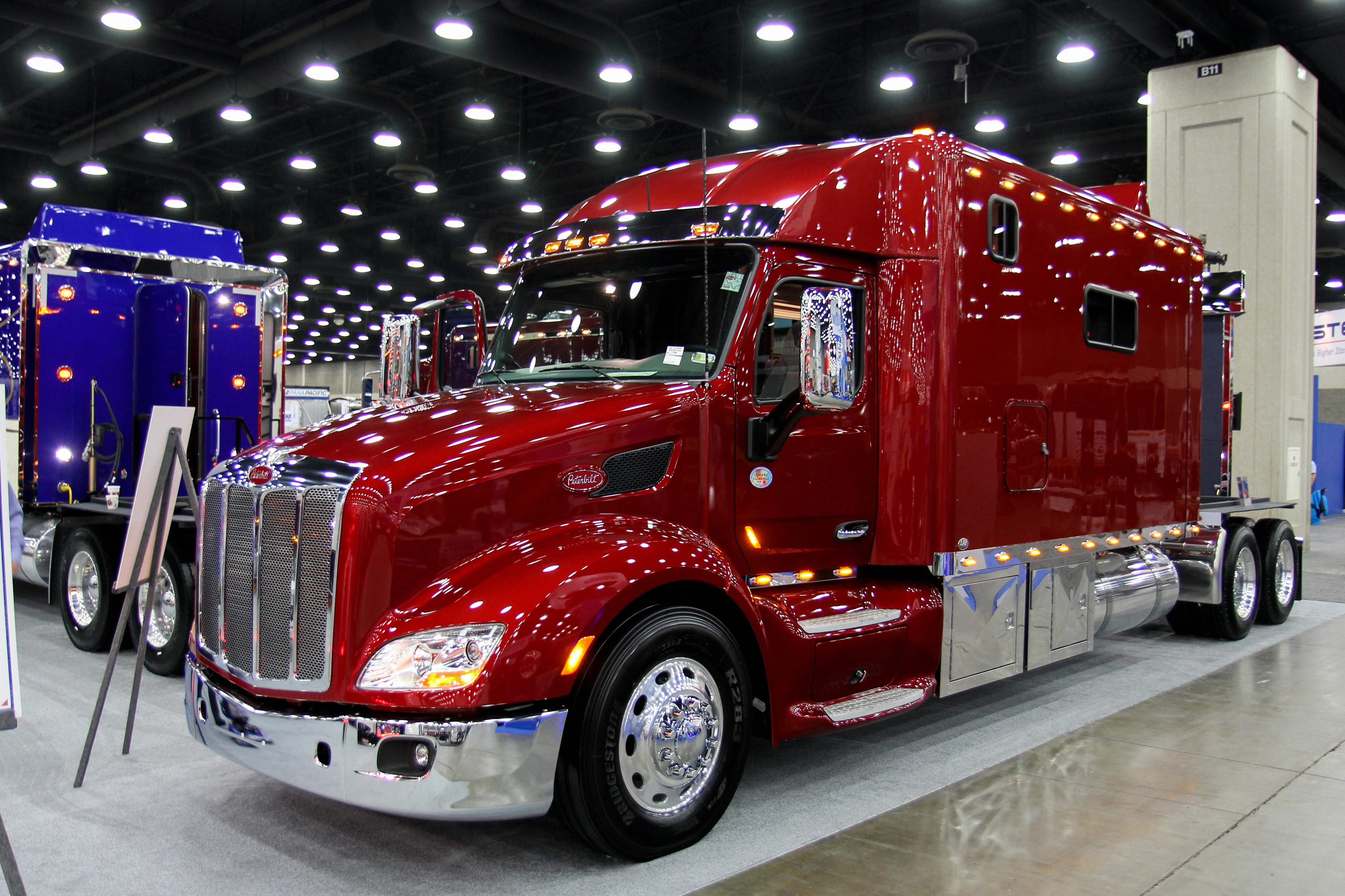 Trucks on display at GATS