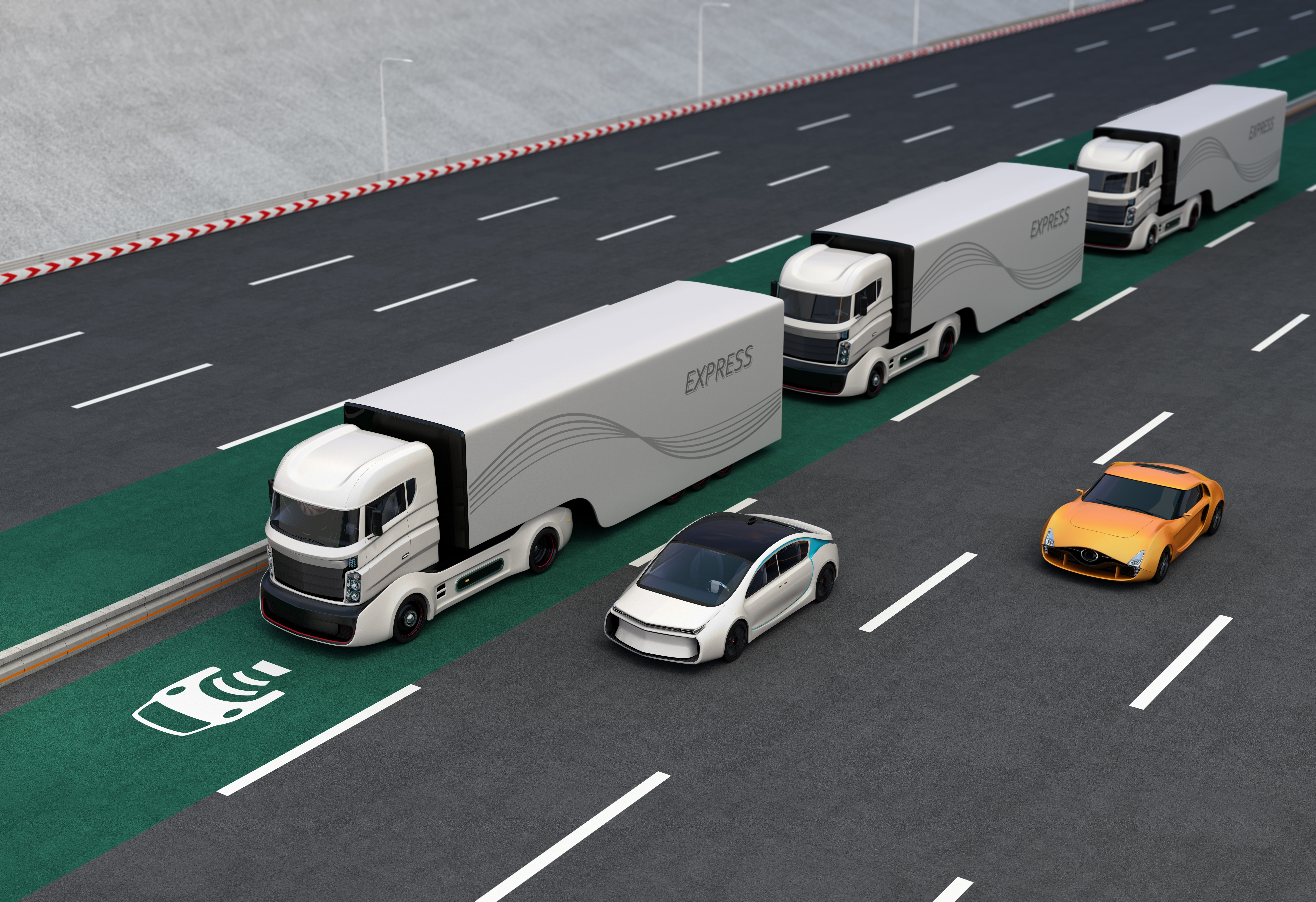 Truck Platooning can save money and increase safety