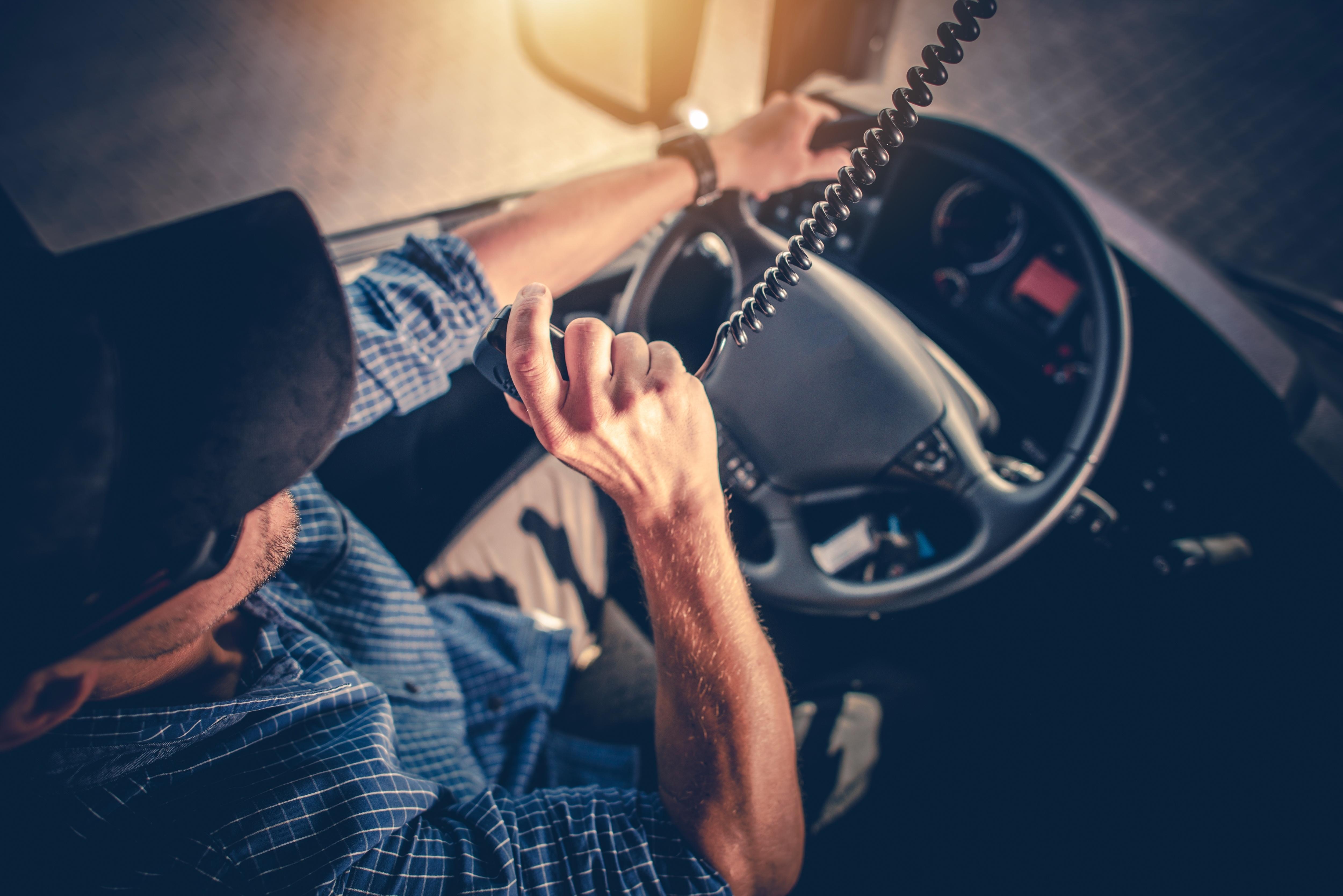 Truck Driver Using CBD Radio