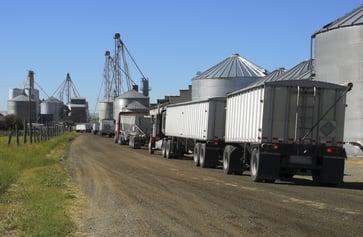 trucks at a farm
