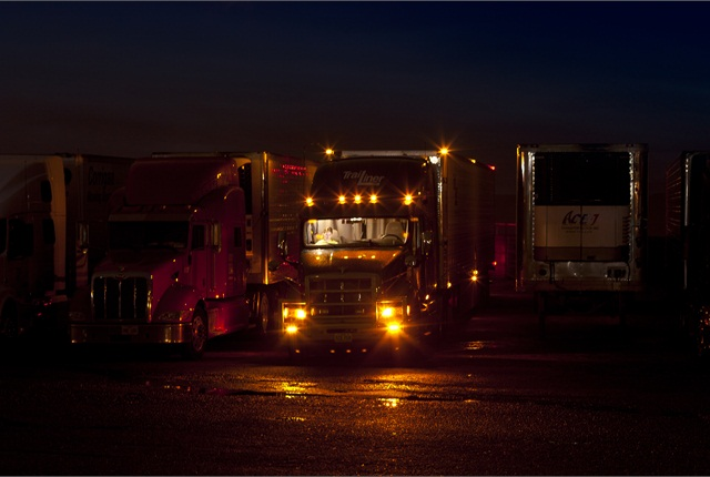 Track at night.