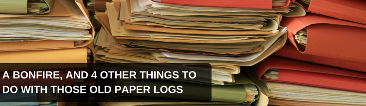 A Bonfire, and 4 Other Things To Do With Those Old Paper Logs
