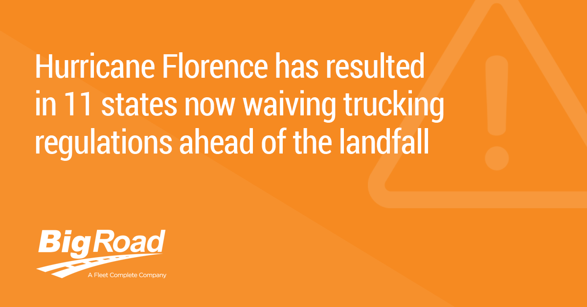 11 States Waive Trucking Regs Ahead of Hurricane Florence