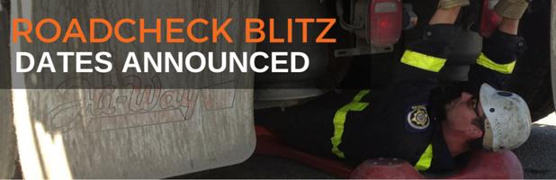 Roadcheck Inspection Blitz Dates Announced