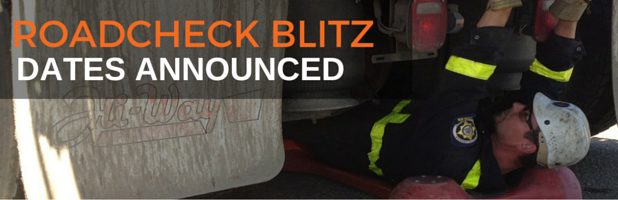 Roadcheck Inspection Blitz Dates Announced