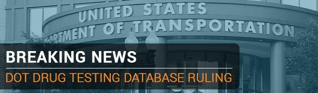 FMCSA Publishes Final Ruling on Drug Testing Database