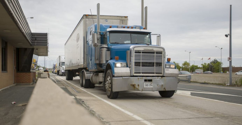 Large reefer truck.
