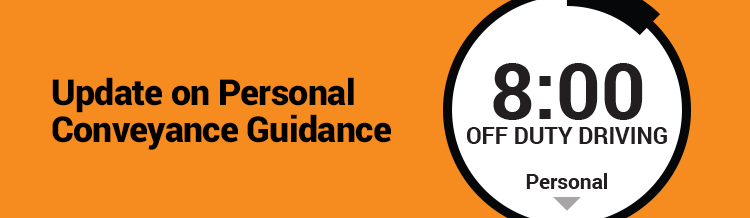 An Update on Personal Conveyance Guidance