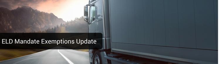 Update on ELD Mandate Exemptions