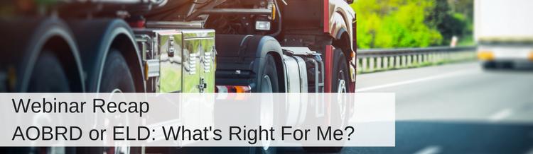 Webinar Recap: AOBRD or ELD? What's Right for Me?