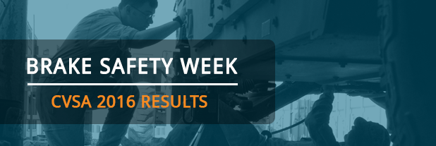 CVSA Brake Safety Week Results